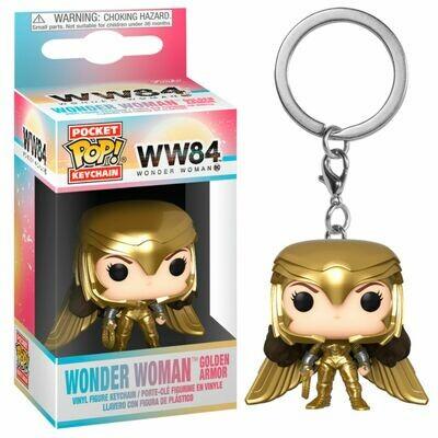 Pocket POP Keychain DC Wonder Woman 1984 Wonder Woman Gold Wing