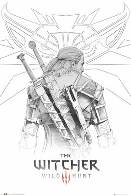The Witcher Maxi Poster Geralt Sketch