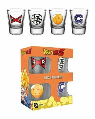 Dragon Ball Z Shot Glasses Mix