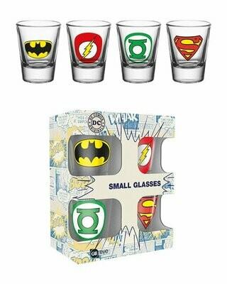 DC Comics Shot Glasses Logos