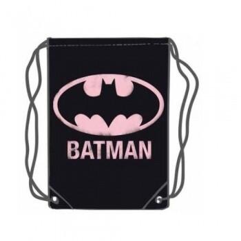 Batman Pink Logo Gym Bag