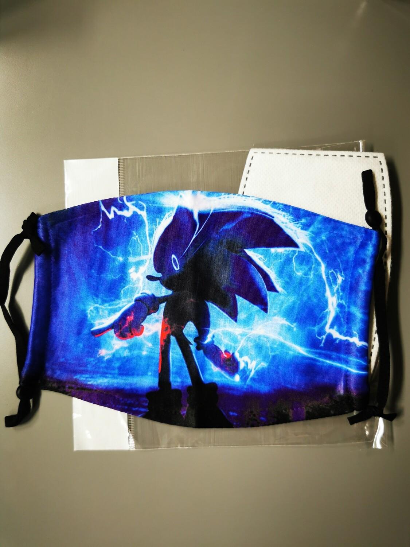Masken Sonic Blue backsite