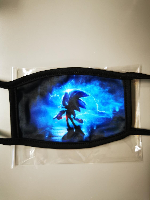 Masken Kids Sonic Blue backsite