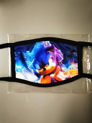 Masken Kids Sonic Blue frontsite