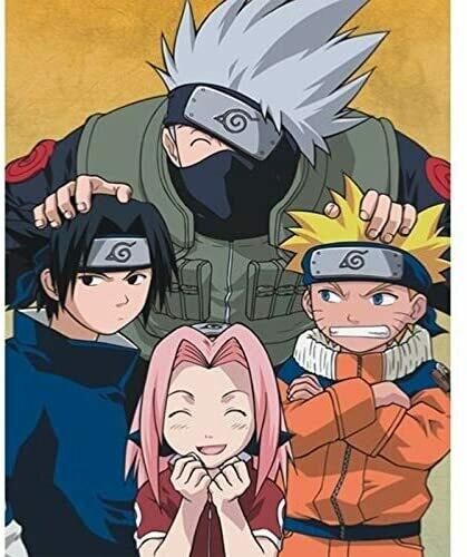 Naruto, Sasuka, Sakura, Kakashi