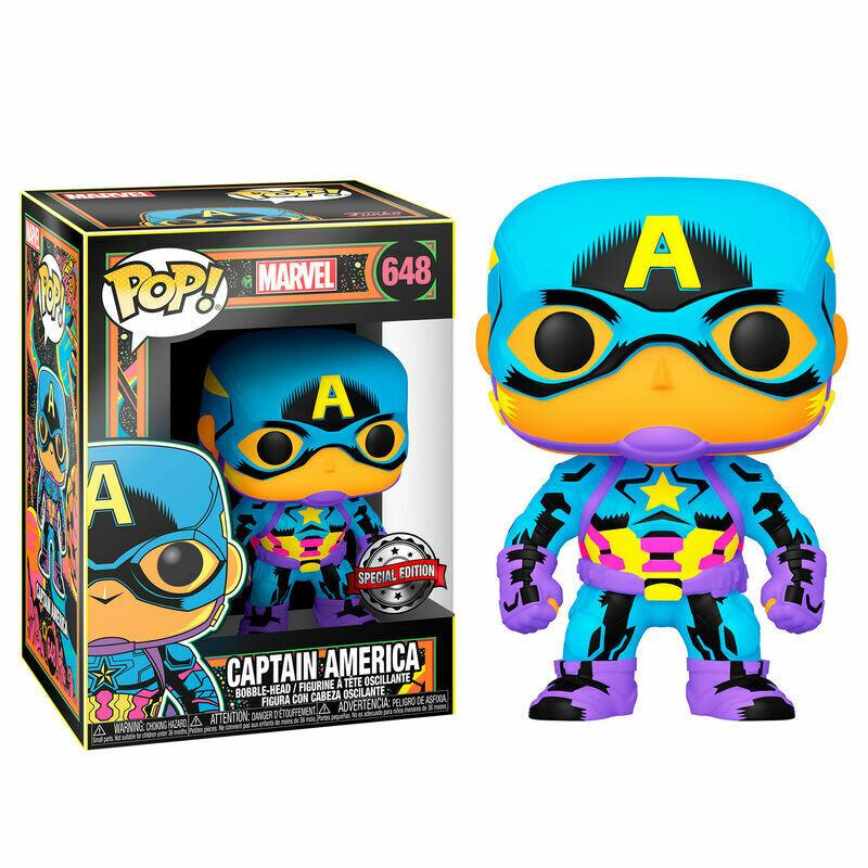 Marvel Black Light Captain America