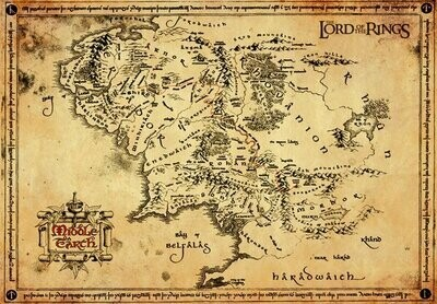 Lord of the Rings Parchment Posters