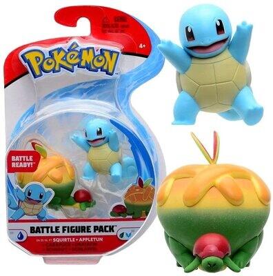 Pokemon Battle Figuren Schiggy + Schlapfel