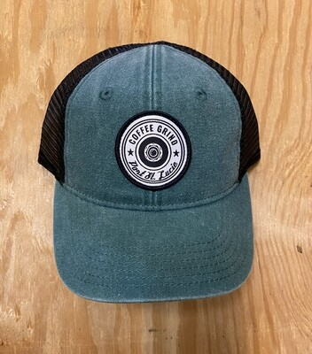 Coffee Grind Kid's Green & Black Snapback Hat