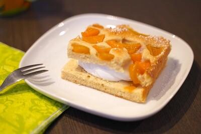 Pfirsich Sandkuchen
