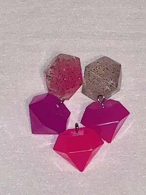 Resin Diamond Charm