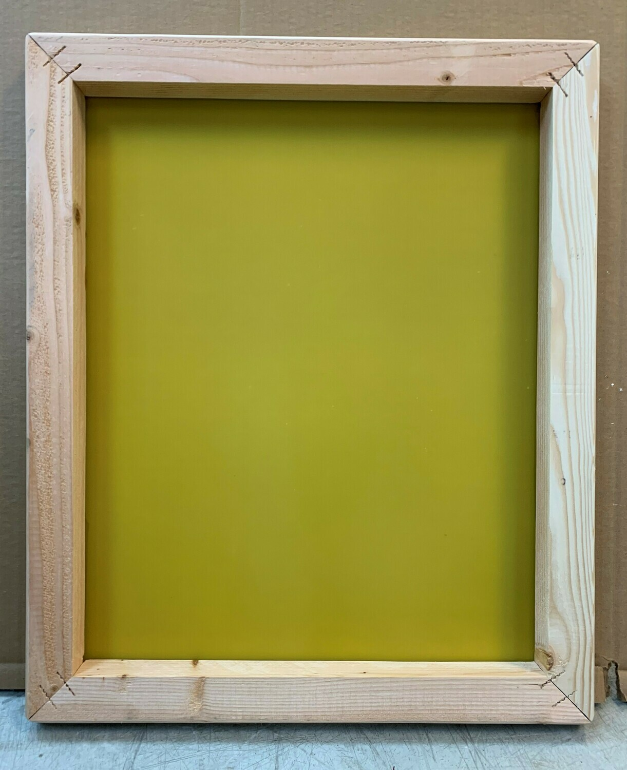 NEW SILK SCREEN WITH WOOD FRAME / RAW -      20 X 24