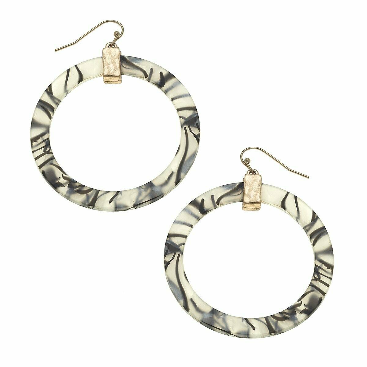 Colette Hoop Earring - Zebra