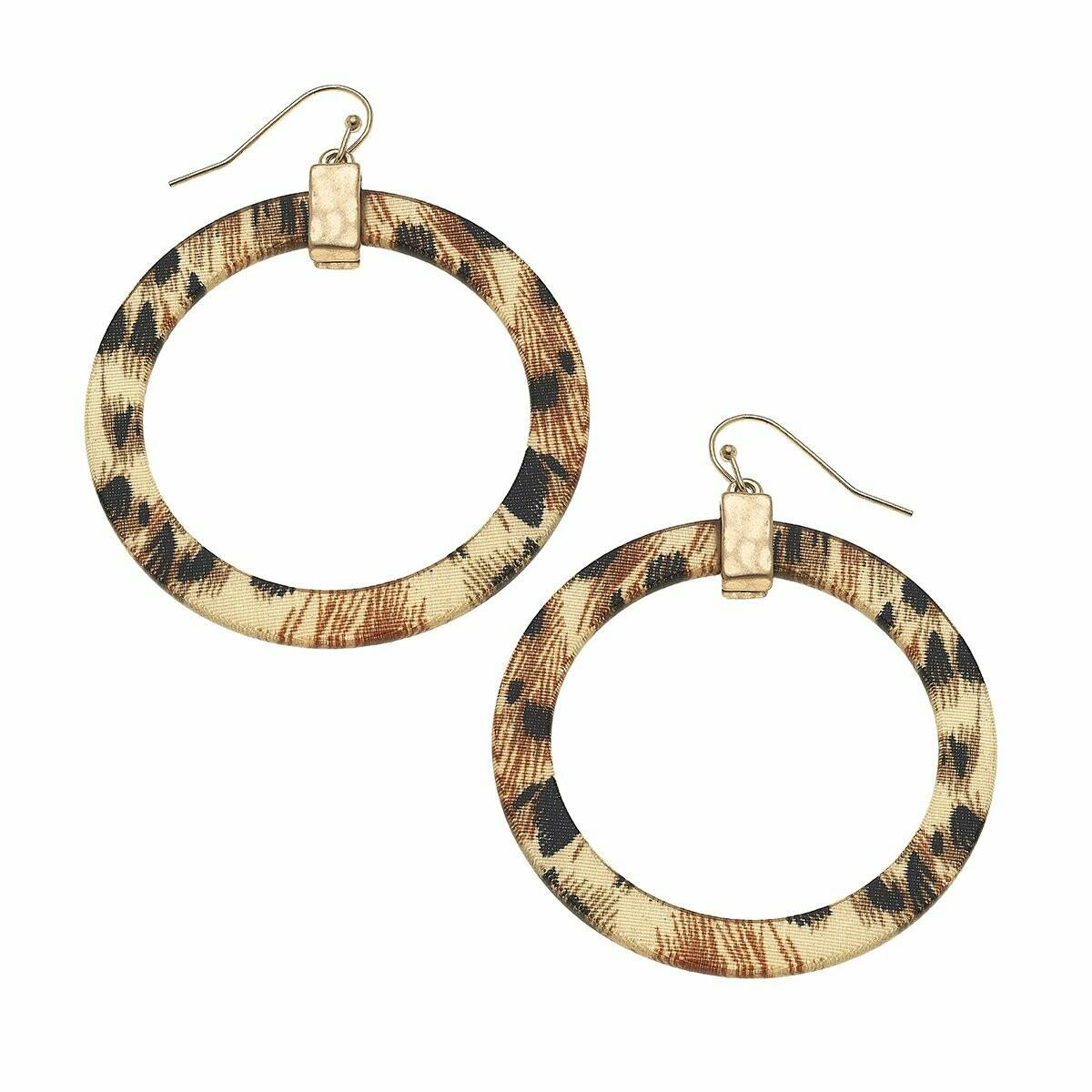 Colette Hoop Earring - leopard