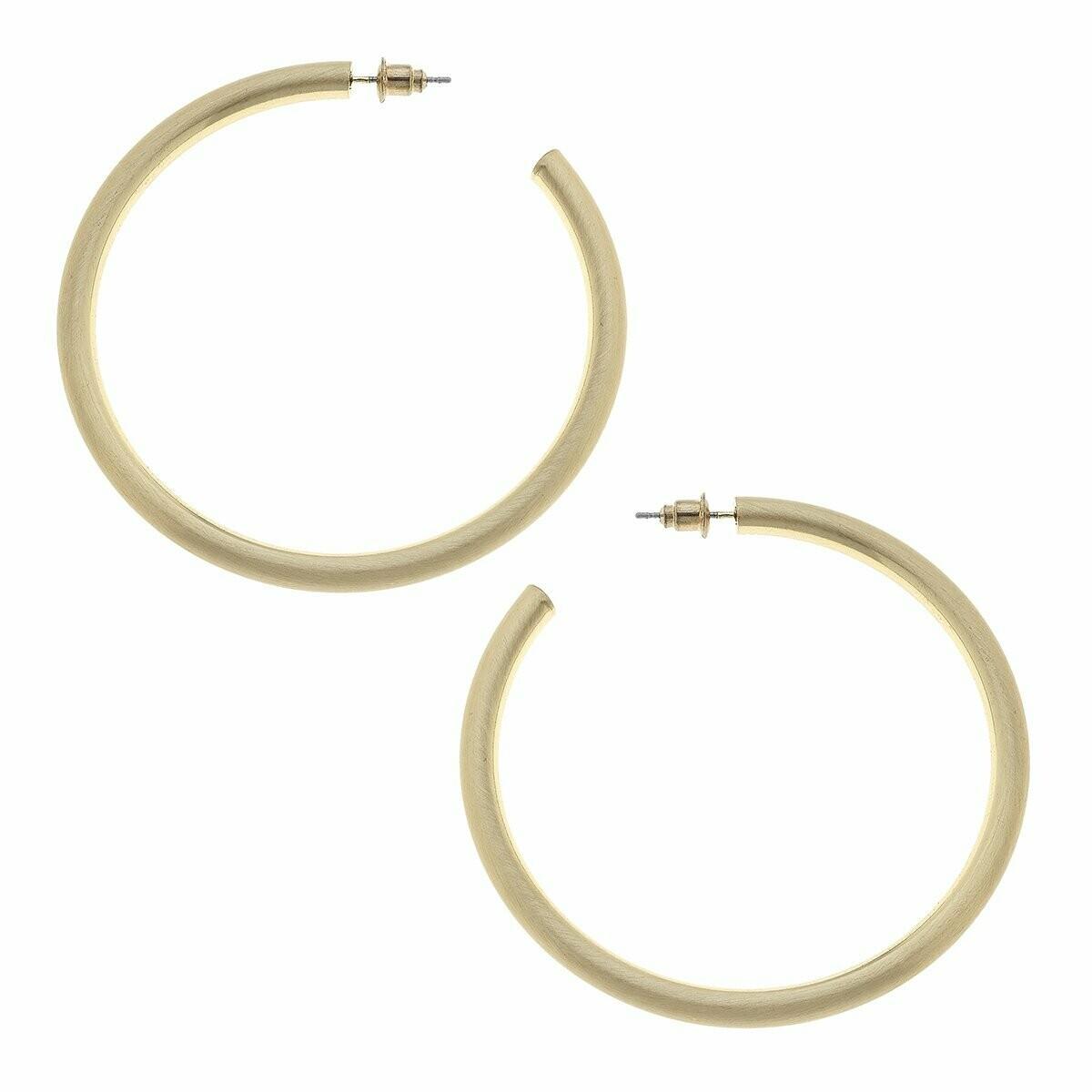 Ivy Hoop Earrings Gold