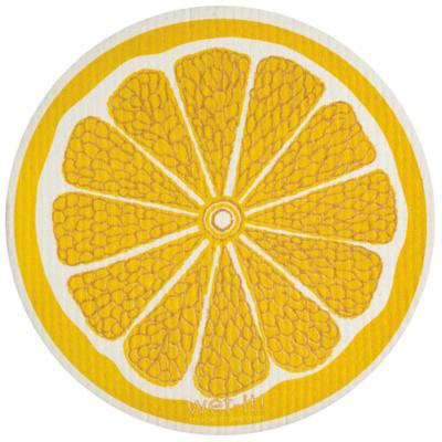 Lemon Wet It Round Dishcloth