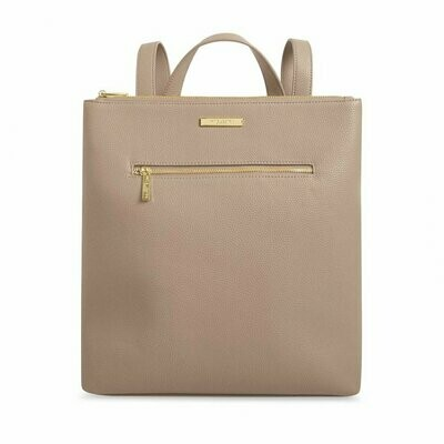 Taupe Square Backpack