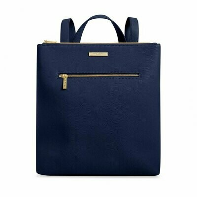 Navy Square Backpack