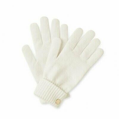 Cream Knit Gloves