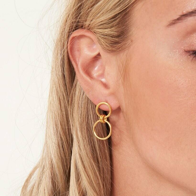 Linked Hoop Earrings