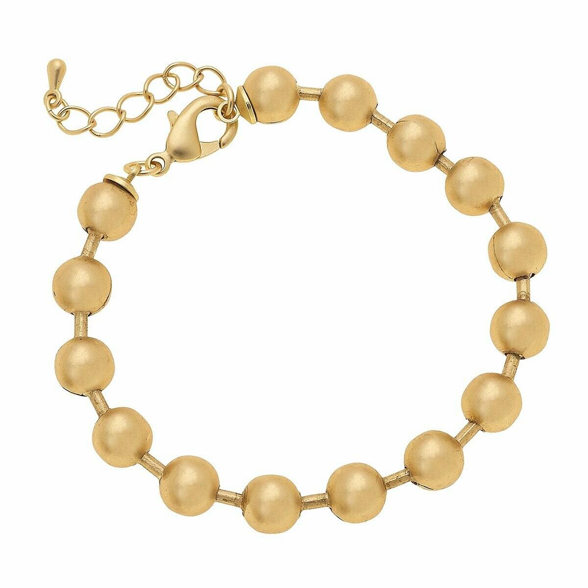 Juni Ball Chain Bracelet in Matte Gold