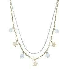 Layered Star Drip Necklace
