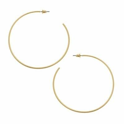 Gwen Hoop Earrings In Satin Gold