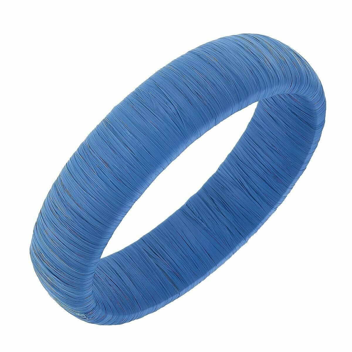 Blue Raffia Bracelet