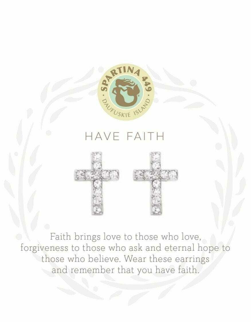 SLV Silver Cross Earrings