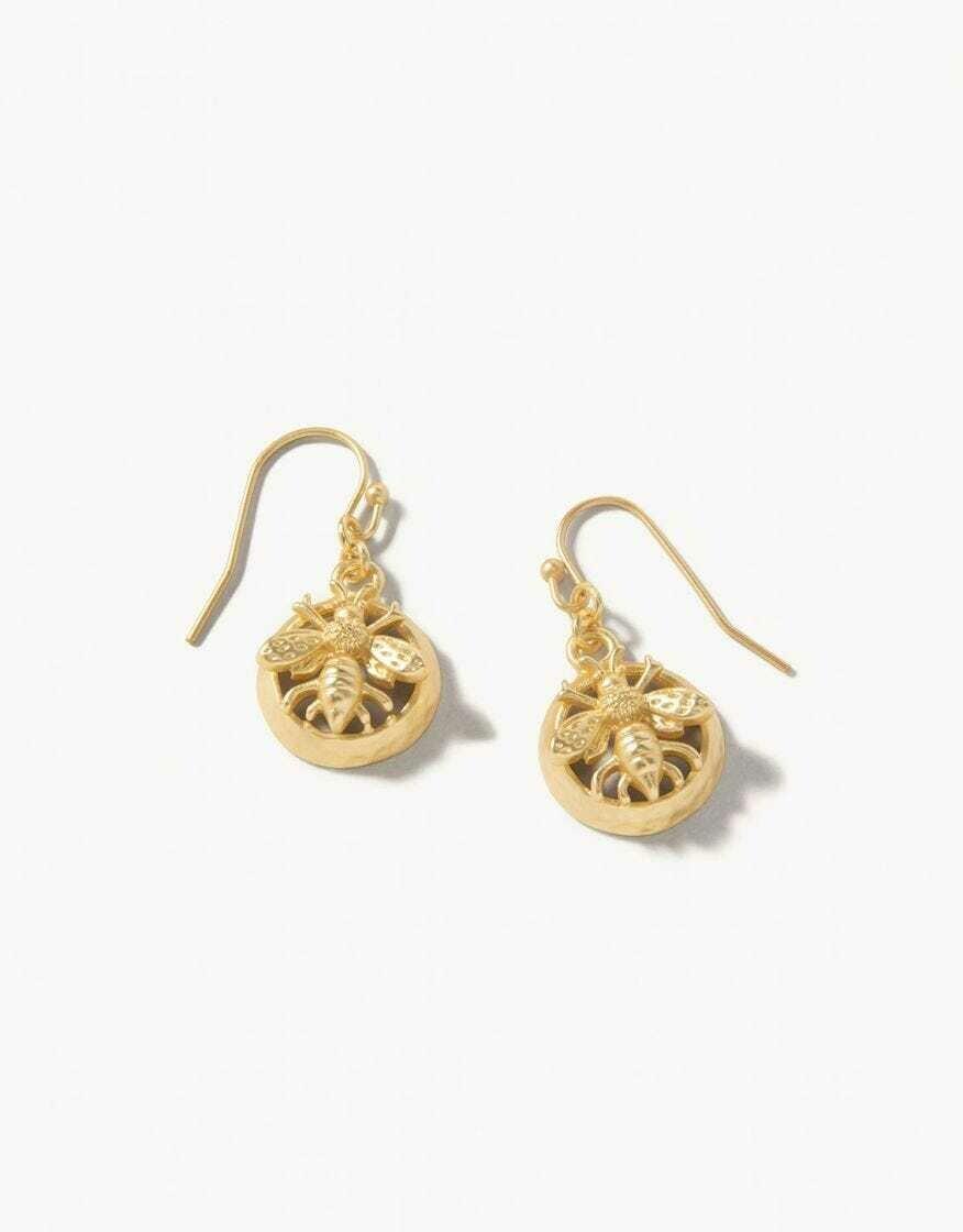 Sticky Bee Drop Earrings