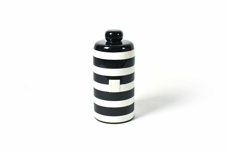 Black Stripe Mini Canister