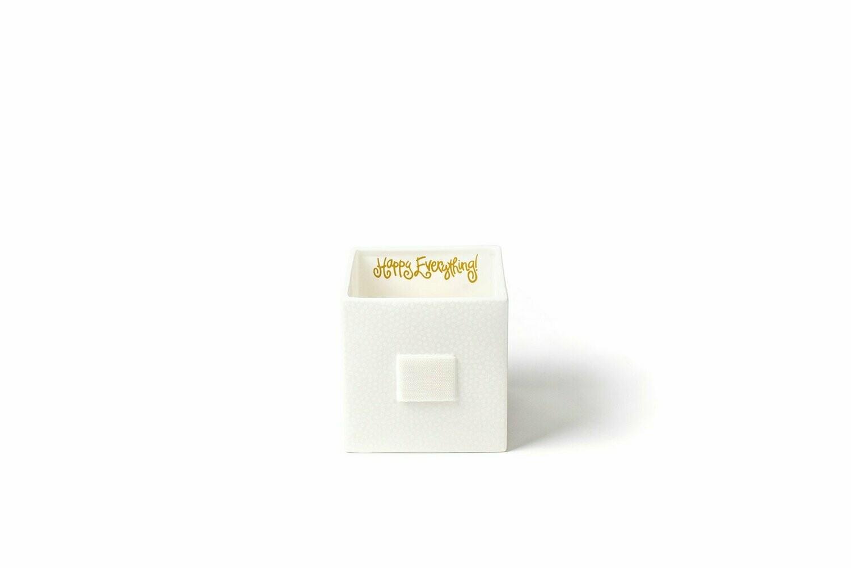 White Small Dot Medium-Mini Nesting Cube