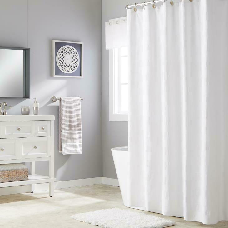 Basketweave White S Curtain