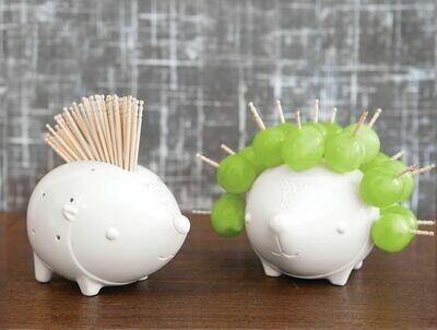 Hedgehog Ceramic Toothpick Holder