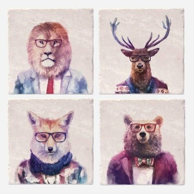 Sophisticated Beasts Coasters Set of 4