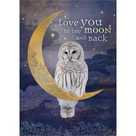 Love You Moon Card