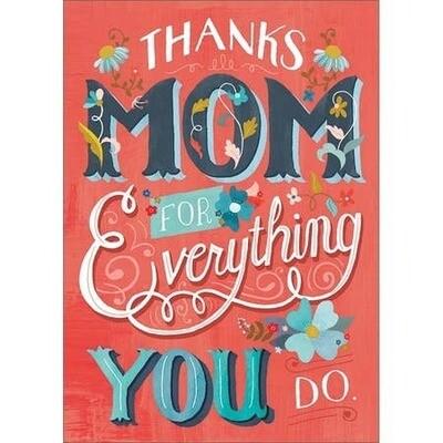 Thanks Mom Amber Lotus Card