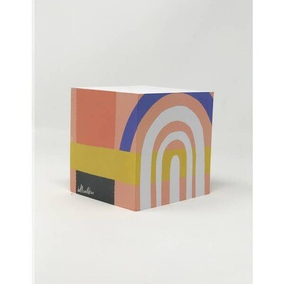 Color Block Sticky Note Cube