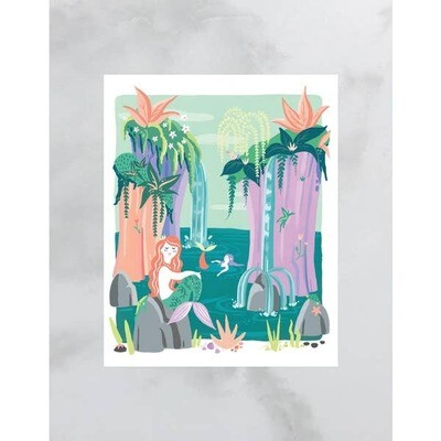 Mermaid Lagoon Print 8x10 Print