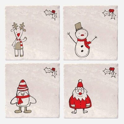 Christmas Cartoons Coasters