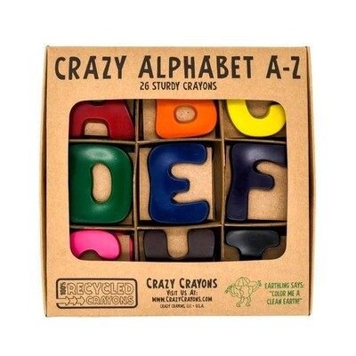 Crazy Crayons Recycled Alphabet Solid Colors Set