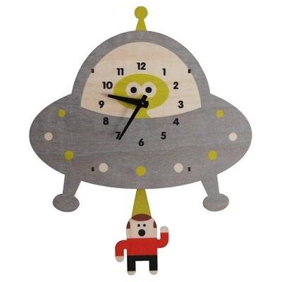 Flying Saucer UFO Pendulum Clock