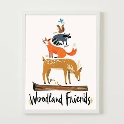Woodland Friends 8x10 Print