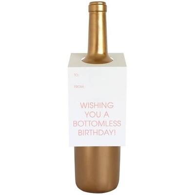 Bottomless Birthday Wine & Spirit Tag