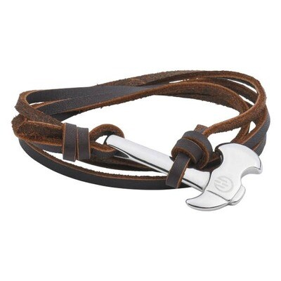 Axe Bracelet Passion Silver Brown