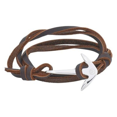 Anchor Bracelet Passion Silver Brown