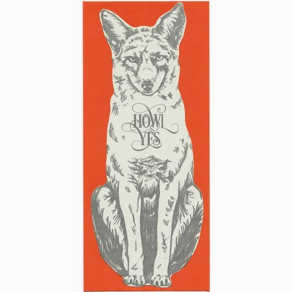 Howl Yes Gift Card, Note or Money Holder Die Cut Card