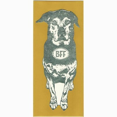 BFF Dog Gift Card, Note or Money Holder Die Cut Card