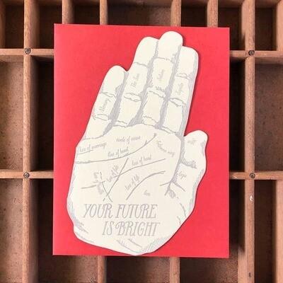 Future Bright Hand Card