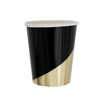 Black Colorblock Paper Cups